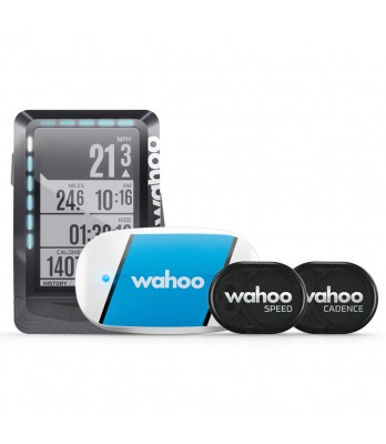 Wahoo Elemnt GPS bike computer bundle with tickr rpm speed/cadence
