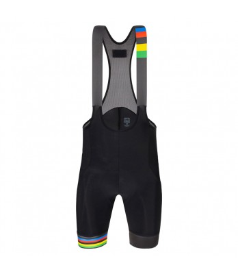 RAINBOW STRIPES BIB SHORTS - UCI OFFICIAL