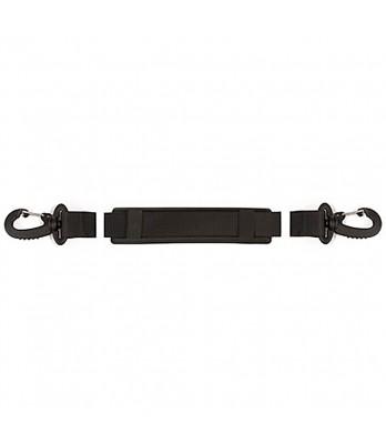 Shoulder strap w swivel hook black 140 cm