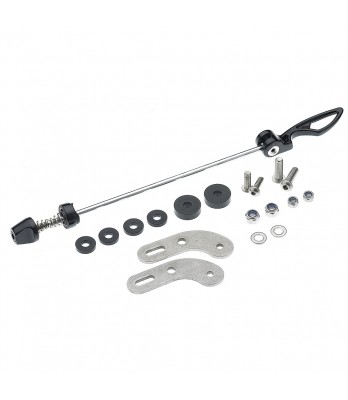 Adapter set for QR-axle-mounting